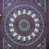 Mandala Hippie Hippy Tapestry indian Wall Hanging Throw Cotton fabric Bedcover Bohemian Bedsheet Decor Bedspread Ethnic Decorative wall Art