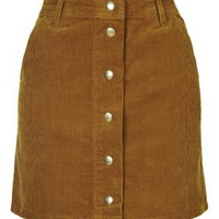 Cord Mini Skirt - Tan