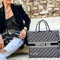 Dior 2020 New ladies fashion versatile aquare bag BOOK TOTE DIOR bag Black