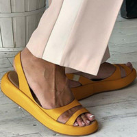 Hot style hot sexy versatile flat retro round toe sandals