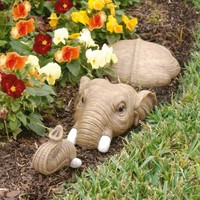 Design Toscano In For a Swim Elephant Lawn Sculpture