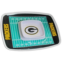 Green Bay Packers NFL Chip & Dip Tray