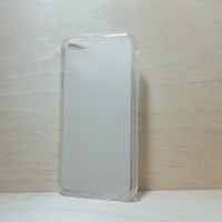 Soft TPU translucent Color Case Protective Silicone Back Case Cover for iPhone 6 (4.7 inches) - White