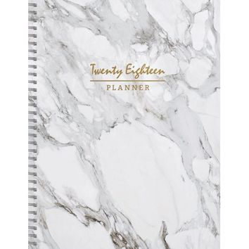 2018 Marble Large Weekly Monthly Planner - Walmart.com