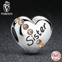 925 Sterling Silver Sister Charms fit Pandora Bangles Jewelry Makings