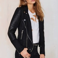 Blank NYC Skin Tight Quilted Moto Jacket