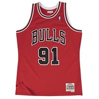 Dennis Rodman Chicago Bulls Mitchell & Ness NBA Throwback HWC Jersey - Red