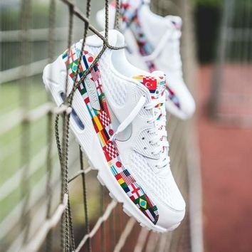 Nike Air Max 90 Nic Qs White International Flag | Best Deal Online
