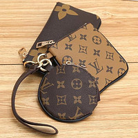 Louis Vuitton LV Key Bag Coin purse Small Wallet Monogram Three Piece Suit