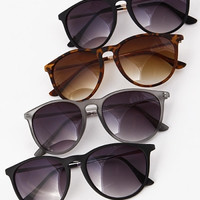 Retro Office Sunglasses - Black, Tortoise or Clear Gray