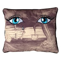 Embroidered Eye Of The Storm Pillow