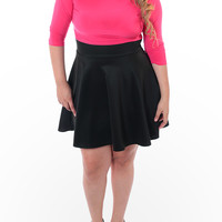 Plus Size Sexy Flared Skirt Pink Dress, Plus Size Clothing, Club Wear, Dresses, Tops, Sexy Trendy Plus Size Women Clothes