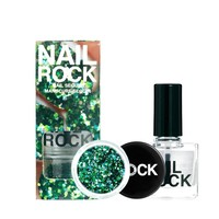 Nail Rock Sequin Manicure - Green