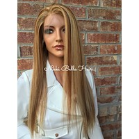 Blonde Brazilian Human Hair Multi Parting Front Lace Wig