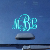 Monogrammed Car Decal--Vinyl decal