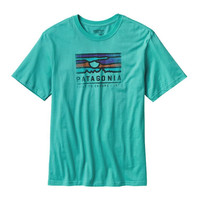 Patagonia Sunset Cotton Tee- Howling Turquoise
