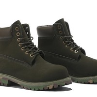 Timberland 10061 Anti Fatigue Outdoors Classic High Help Olive - Camouflage at the end