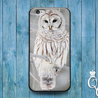 iPhone 4 4s 5 5s 5c 6 6s plus + iPod Touch 4th 5th 6th Generation Cute Custom Beautiful White Snow Owl Bird Phone Cover Pretty Winter Case