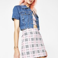 Pink Check Pelmet Skirt