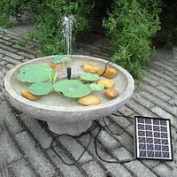 5V/1.5W 175L/H Brushless DC Solar Power Fountain Water Pump Spray Panel Kit For Pool Home Garden Decor Fish Pond Watering Pumb