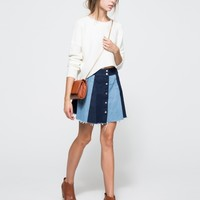 Farrow / Button Front Mini Skirt