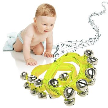1 Pair Jingles Wrist Ankle Bell Bracelet Hand bell Percussion Musical Toys Kids