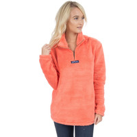 Linden Sherpa Pullover in Coral