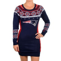 New England Patriots Official NFL Sweater Dress by Klew