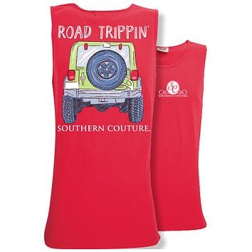 Southern Couture Preppy Road Trippin Jeep Comfort Colors Tank Top