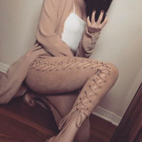 Spellbound Suedette Lace Up Leggings