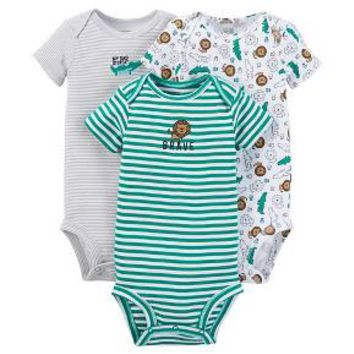 Just One You™ Made by Carter's® Baby Boys' 3-Piece Bodysuit Set - Green
