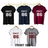 Drake Drizzy Shirt Drizzy 86 Date of Birth Front Side Unisex Tshirt