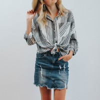 MO Navy Plaid Button Down