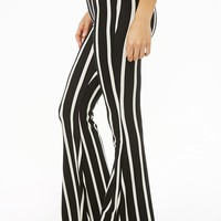 Striped Flare Pants