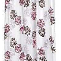 """Spring Bloom Fluffy Floral Extra Long Fabric Shower Curtain Size: 70"""" x 84"""""""