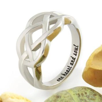 "Couples Ring, Infinity Ring, Promise Ring Infinity Symbol Ring ""One Heart And Soul"""