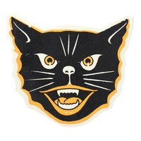Retro Halloween Cat Large Fabric Back Patch