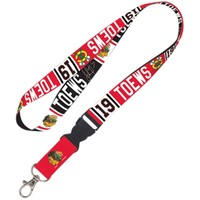 Jonathan Toews Chicago Blackhawks Player Buckle Lanyard - Red/Black