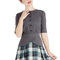 Refined Research Skirt in Teal | Mod Retro Vintage Skirts | ModCloth.com