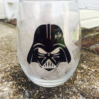 Darth Vader Stemless Wine Glass