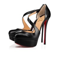 Cl Christian Louboutin Decalcoco Black Leather 18s Platforms 1180319bk01