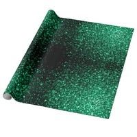 Beautiful Emerald Green glitter sparkles Gift Wrapping Paper by PLdesign