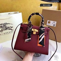 1057 Hermes Fashion Classic Handle Kelly Bag Shoulder Bag Size 19-14cm-4