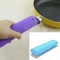 Silicone Pot Pan Handle Saucepan Holder Sleeve Slip Cover Grip Kitchen Utensils