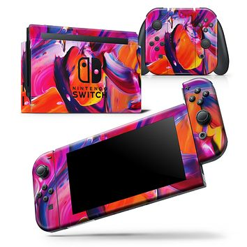 Blurred Abstract Flow V9 - Skin Wrap Decal for Nintendo Switch Lite Console & Dock - 3DS XL - 2DS - Pro - DSi - Wii - Joy-Con Gaming Controller