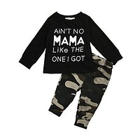 born baby Boy clothing set Camouflage born Baby Boys Toddler Casual Tops +Long Pants Outfits Set Clothes