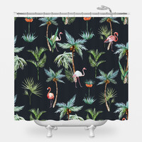 King Flamingo Shower Curtain