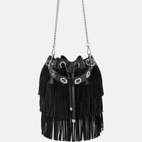 MICRO STUDDED BUCKET BAG