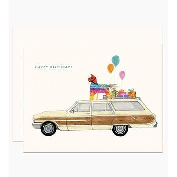 Party on the Way Birthday Card