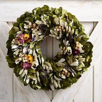 "Preserved Pansy 22"" Wreath"
